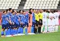 両チーム、選手が入場|写真:金子拓弥(サッカーダイジェスト写真部/JMPA代表撮影)