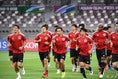 【PHOTO】試合会場となるハリファインターナショナルスタジアムでトレーニングを行った日本代表|写真提供:JFA